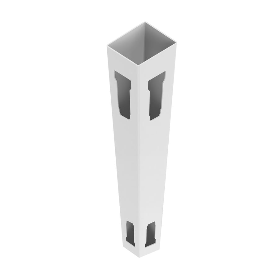Freedom Ready-to-Assemble White Vinyl Fence Corner Post (Common: 5-in x 5-in 8-ft; Actual: 5-in x 5-in 8-ft)