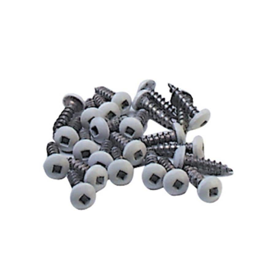 Freedom 30-Pack White Stainless Steel Fence Screws