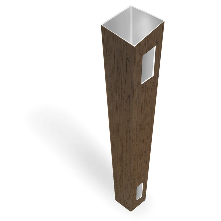 Freedom Ready-to-Assemble Saddle Vinyl Fence End Post (Common: 5-in x 5-in x 9-ft; Actual: 5-in x 5-in x 9-ft)