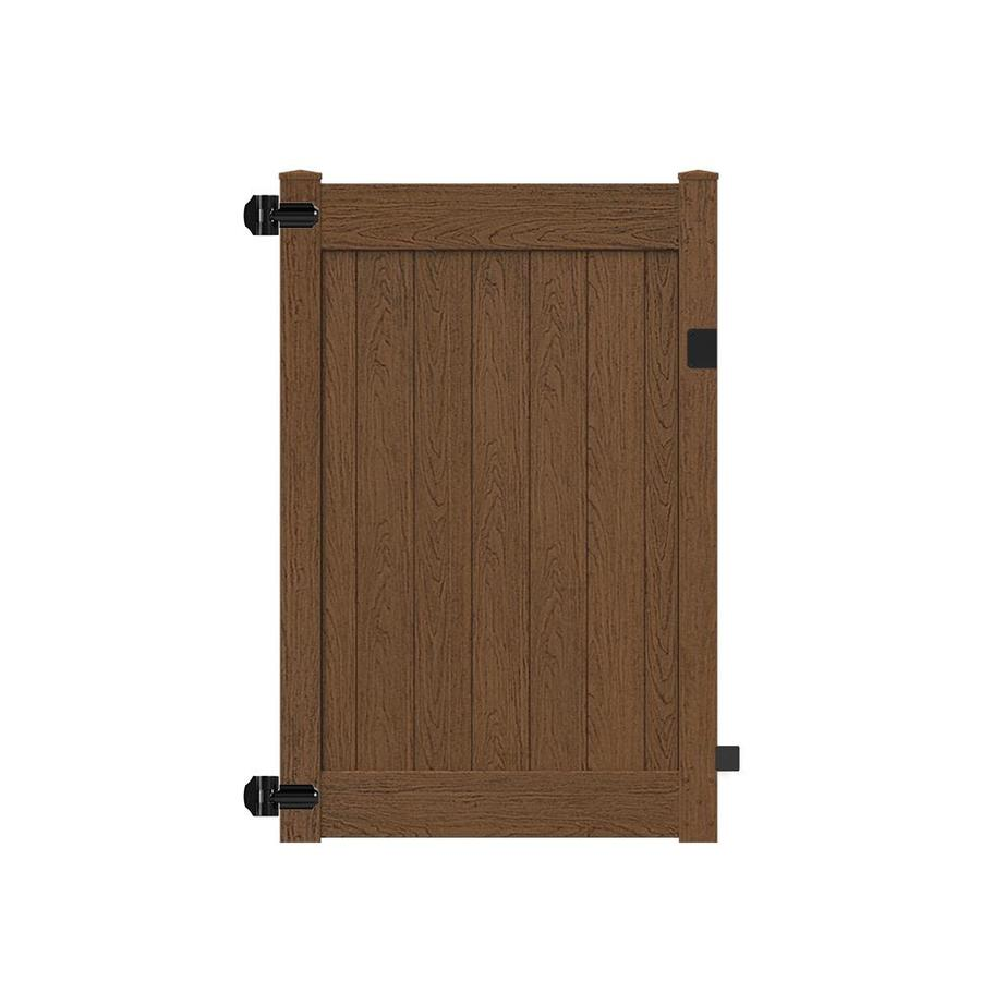 Freedom Bolton Saddle Vinyl Privacy Vinyl Fence Gate Kit (Common: 6-ft x 4-ft; Actual: 5.84-ft x 3.84-ft)