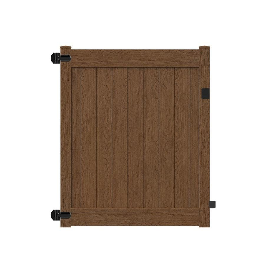Freedom (Common: 6-ft x 5-ft; Actual: 5.84-ft x 4.84-ft) Bolton Saddle Vinyl Privacy Gate Kit