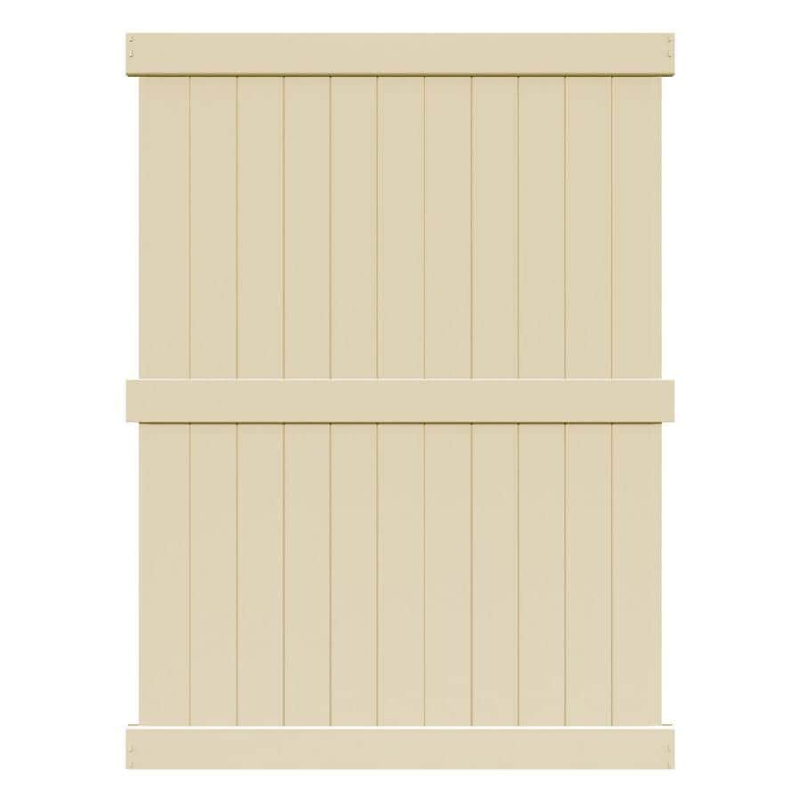 Freedom (Actual: 7.83-ft x 5.58-ft) Ready-to-Assemble Bolton Sand Vinyl Privacy Panel
