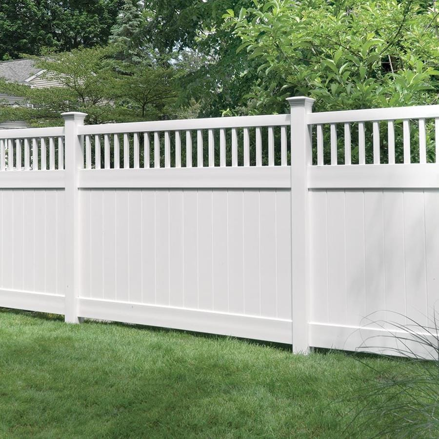 Freedom (Common: 6-ft x 8-ft; Actual: 5.83-ft x 7.83-ft) Ready-To-Assemble Chester White Vinyl Semi-Privacy Fence Panel