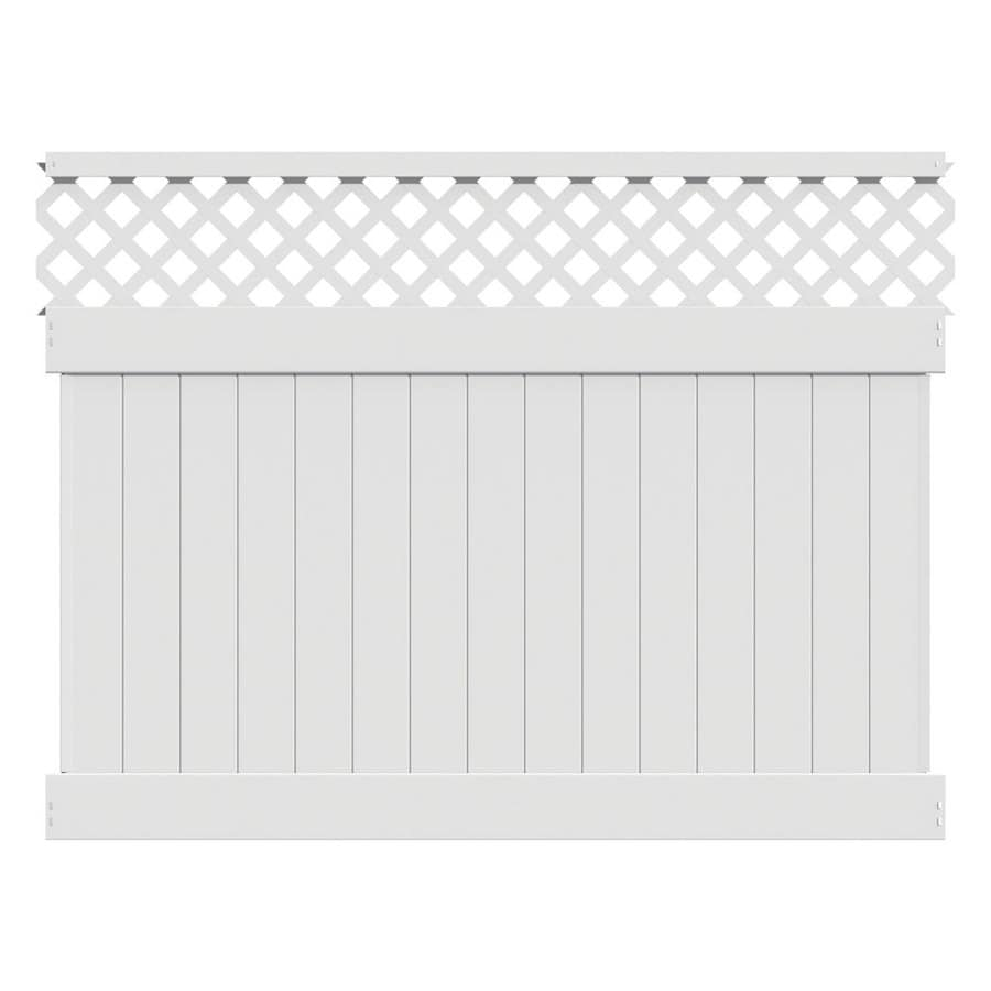 Freedom (Actual: 5.83-ft x 7.84-ft) Ready-to-Assemble Conway White Vinyl Semi-privacy Panel