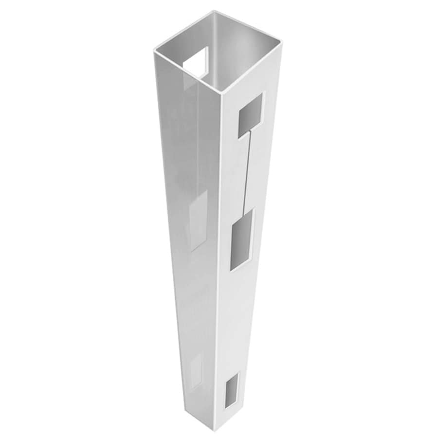Freedom (Common: 5-in x 5-in x 9-ft; Actual: 5-in x 5-in x 9-ft) Ready-To-Assemble White Vinyl Fence Line Post