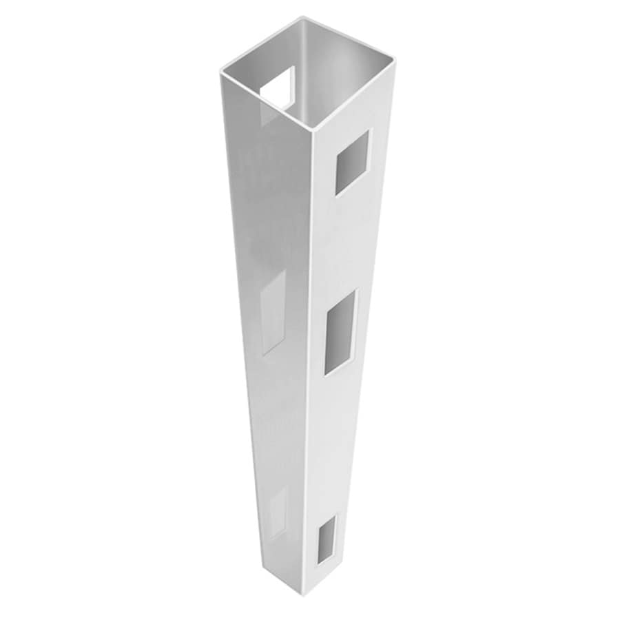 Freedom (Common: 5-in x 5-in x 8-ft; Actual: 5-in x 5-in x 8-ft) Ready-To-Assemble White Vinyl Fence Line Post