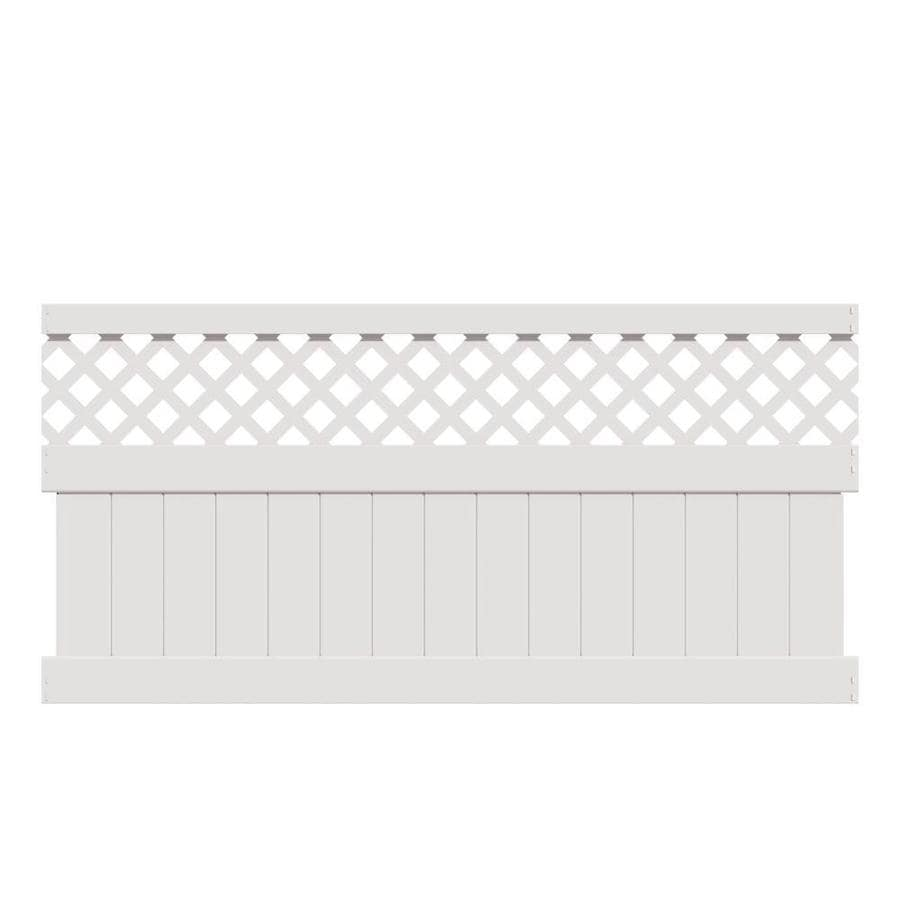 Freedom (Common: 4-ft x 8-ft; Actual: 3.875-ft x 7.84-ft) Ready-To-Assemble Conway White Vinyl Semi-Privacy Fence Panel