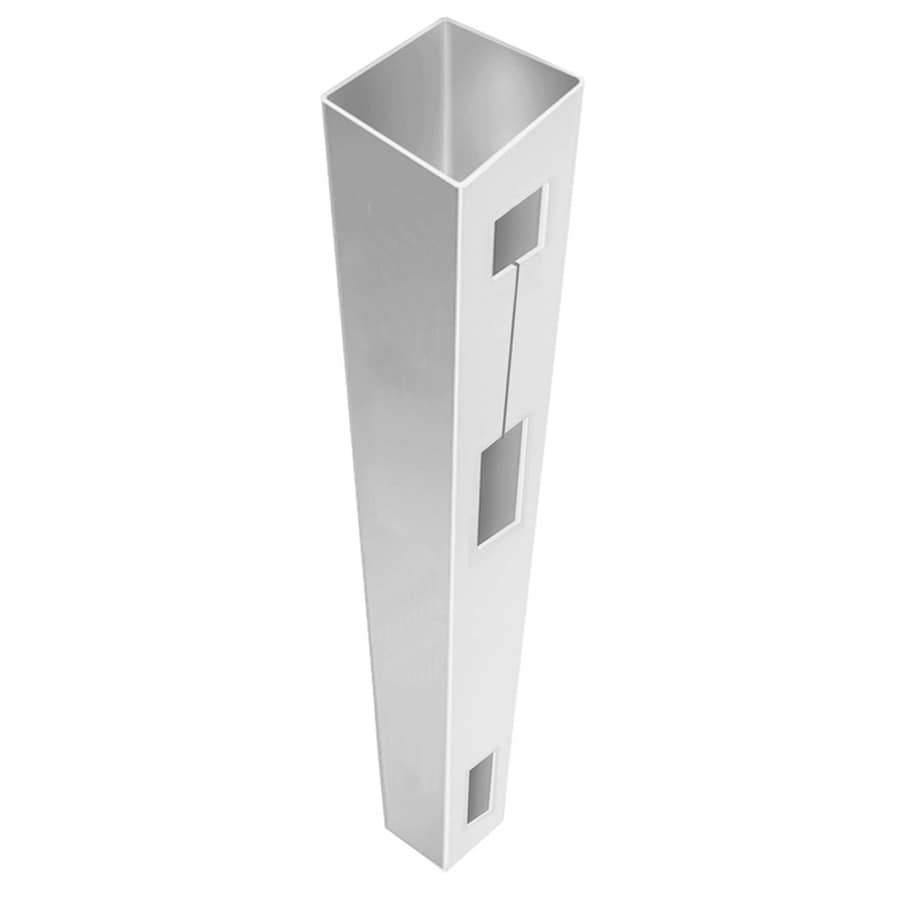 Freedom (Common: 5-in x 5-in x 7-ft; Actual: 5-in x 5-in x 7-ft) Ready-To-Assemble White Vinyl Fence End Post