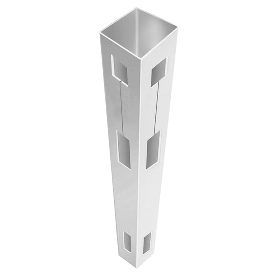 Freedom (Common: 5-in x 5-in x 7-ft; Actual: 5-in x 5-in x 7-ft) Ready-To-Assemble White Vinyl Fence Corner Post