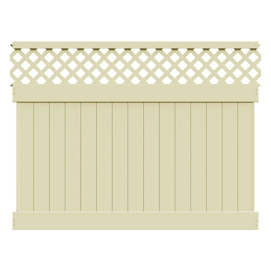 Freedom (Actual: 5.83-ft x 7.84-ft) Ready-to-Assemble Conway Sand Vinyl Semi-privacy Panel