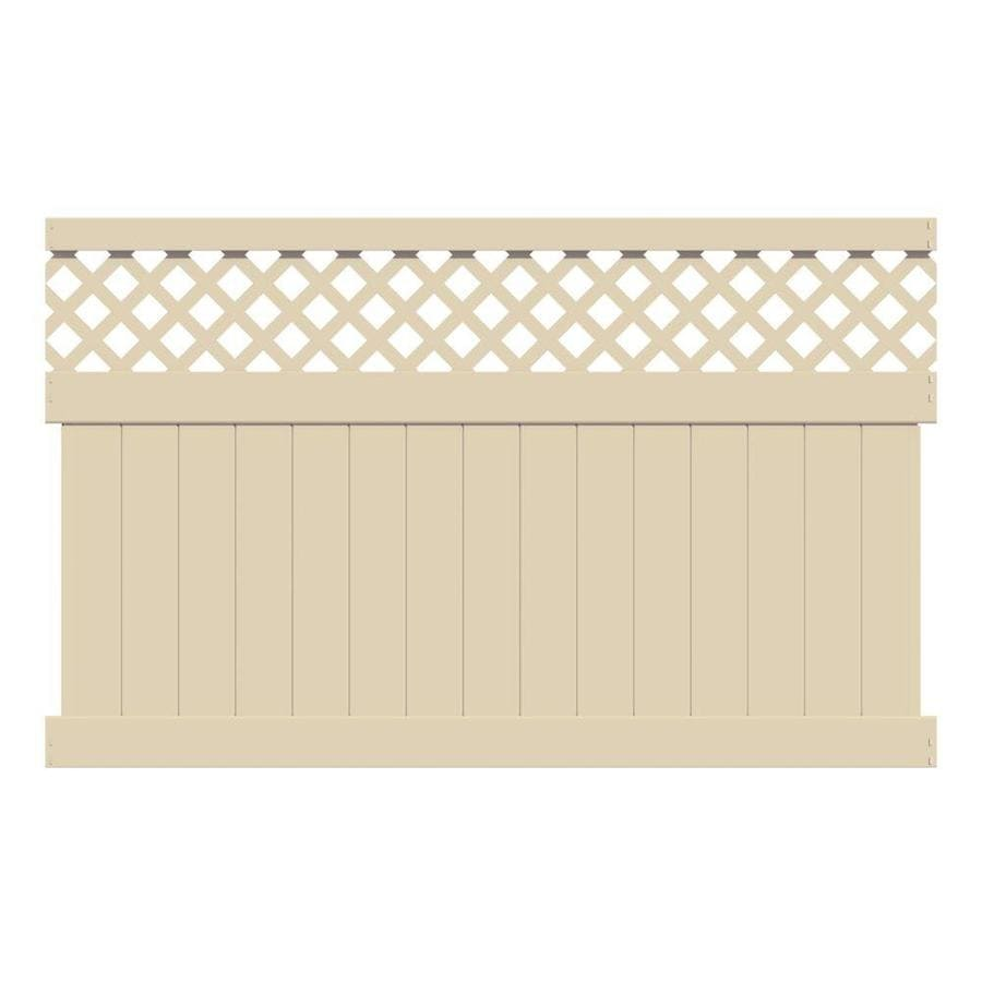 Freedom (Actual: 4.75-ft x 7.84-ft) Ready-to-Assemble Conway Sand Vinyl Semi-privacy Panel