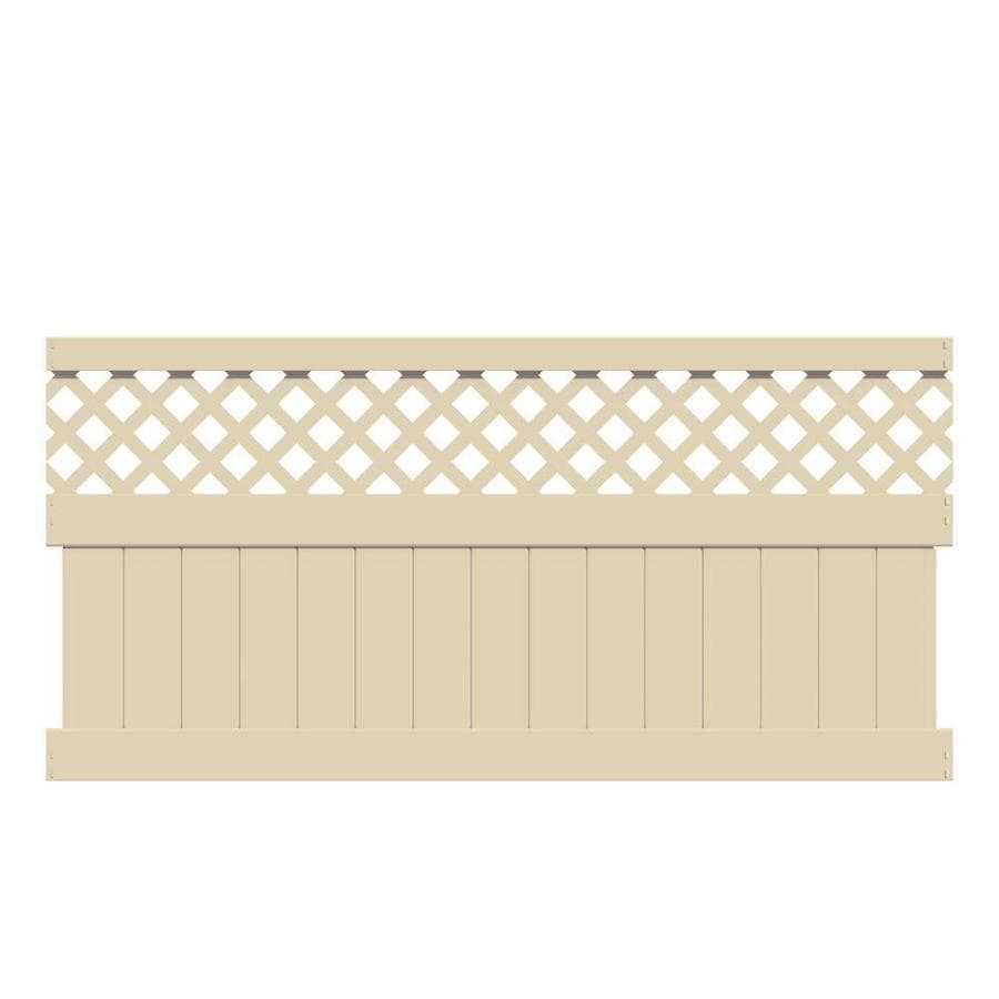 Freedom (Common: 4-ft x 8-ft; Actual: 3.875-ft x 7.84-ft) Ready-To-Assemble Conway Sand Vinyl Semi-Privacy Fence Panel
