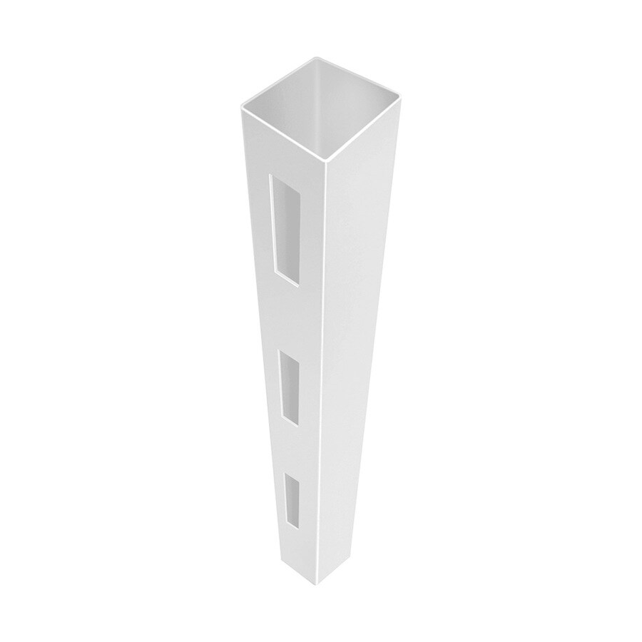 Freedom Ready-To-Assemble White Vinyl Fence End Post (Common: 5-in x 5-in x 12-ft; Actual: 5-in x 5-in x 12-ft)
