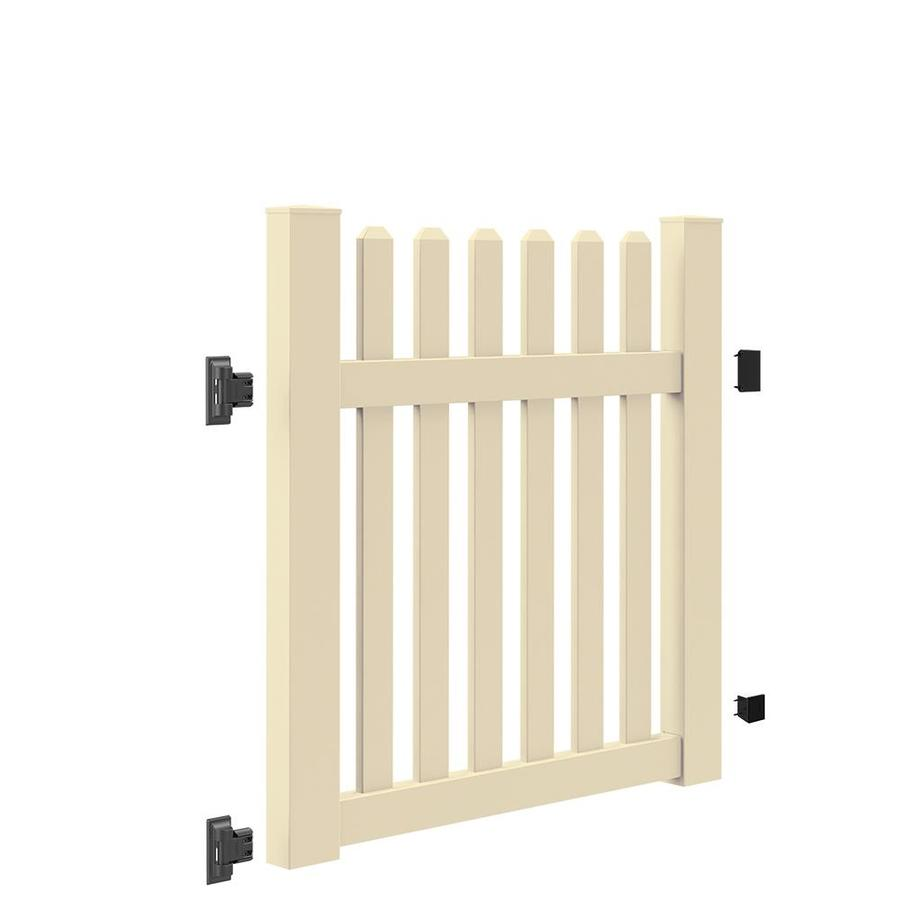 Freedom (Common: 4-ft x 4-ft; Actual: 4-ft x 3.83-ft) Coventry Straight Sand Vinyl Fence Gate