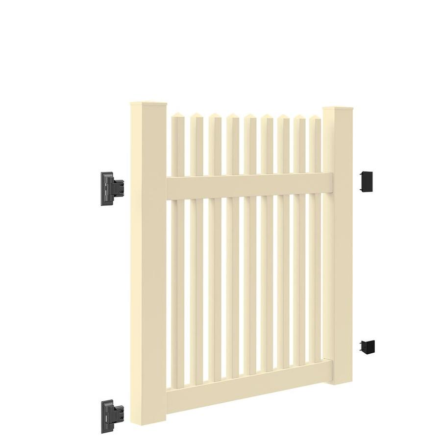 Freedom (Common: 4-ft x 4-ft; Actual: 4-ft x 3.83-ft) Carlisle Straight Sand Vinyl Gate