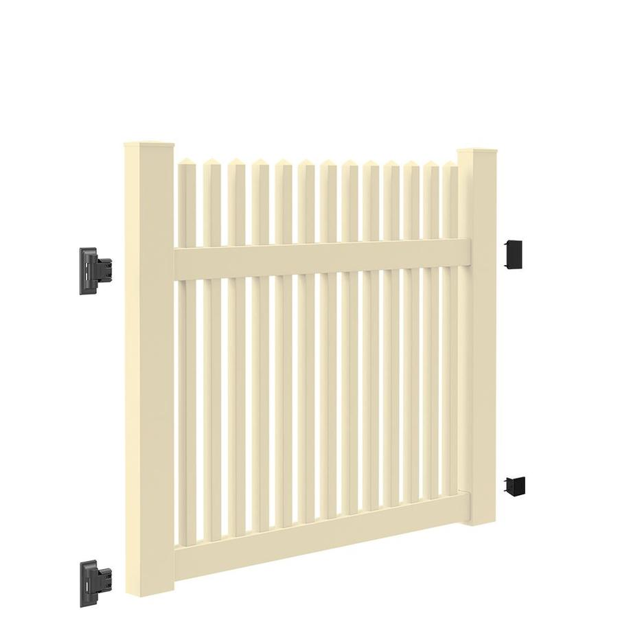 Freedom (Common: 4-ft x 5-ft; Actual: 4-ft x 4.83-ft) Carlisle Straight Sand Vinyl Fence Gate