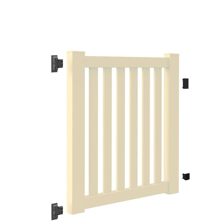Freedom (Common: 4-ft x 4-ft; Actual: 4-ft x 3.83-ft) Durham Sand Vinyl Gate