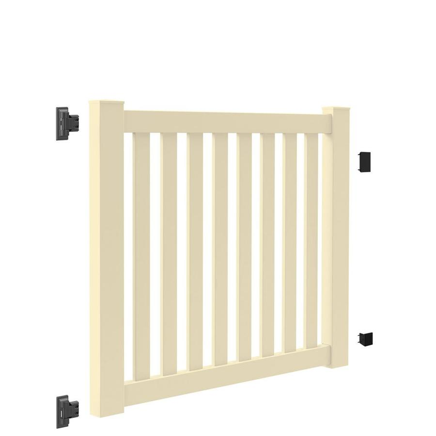 Freedom (Common: 4-ft x 5-ft; Actual: 4-ft x 4.83-ft) Durham Sand Vinyl Fence Gate