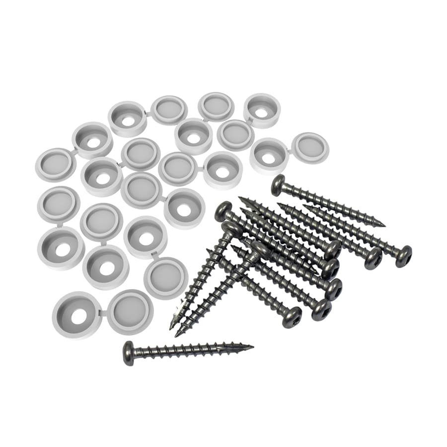 Freedom 12-Pack 1.5-in White Lattice Screw