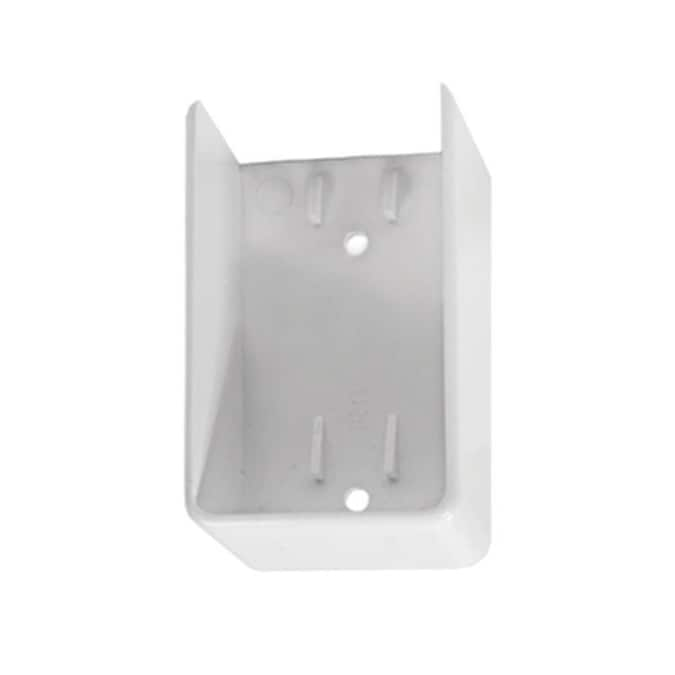 Emble White Vinyl Fence Bracket
