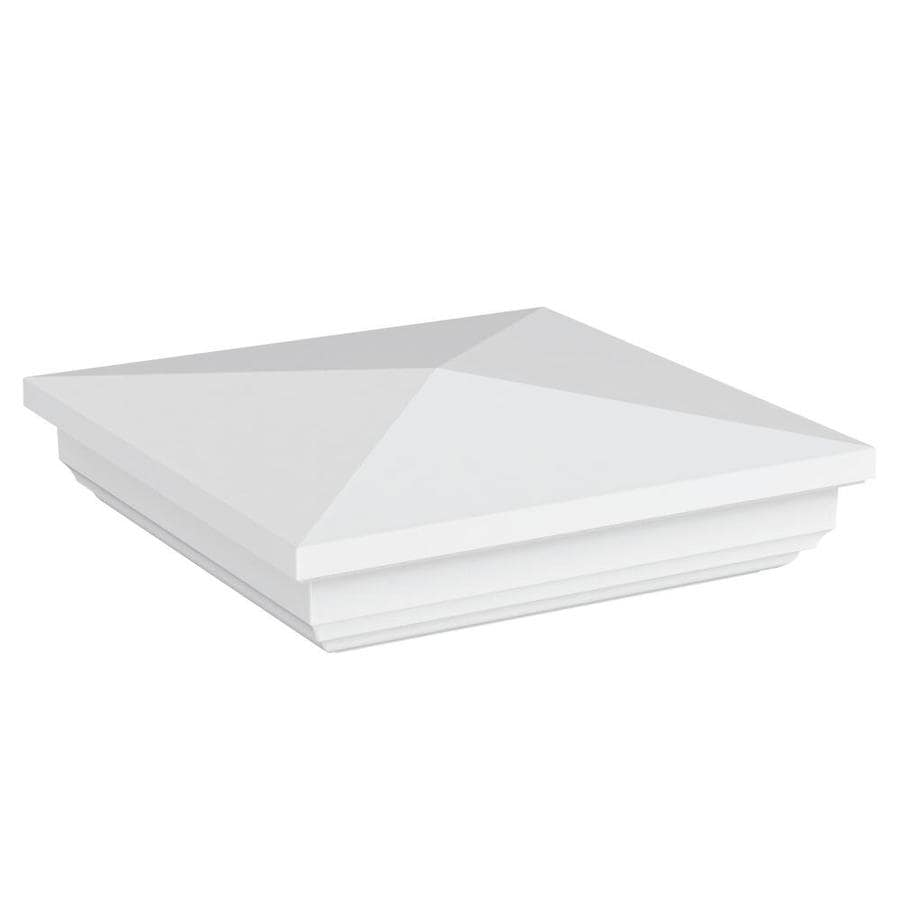 Freedom (Fits Common Post Measurement: 5-in; Actual: 5-in x 5-in) White Vinyl Post Top