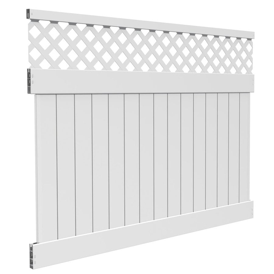 Freedom Ready-To-Assemble Bradford White Vinyl Semi-Privacy Fence Panel (Common: 6-ft x 8-ft; Actual: 6-ft x 7.56-ft)