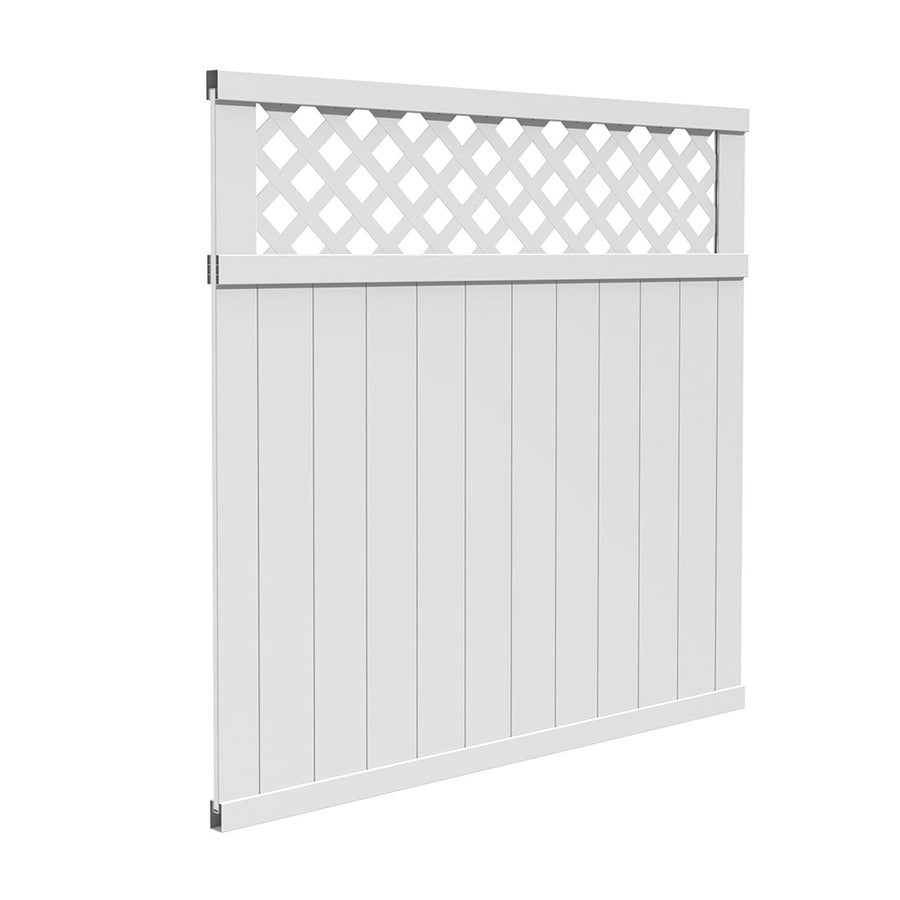 Freedom (Common: 6-ft x 6-ft; Actual: 5.66-ft x 5.65-ft) Pre Assembled Wellington White Vinyl Privacy Fence Panel