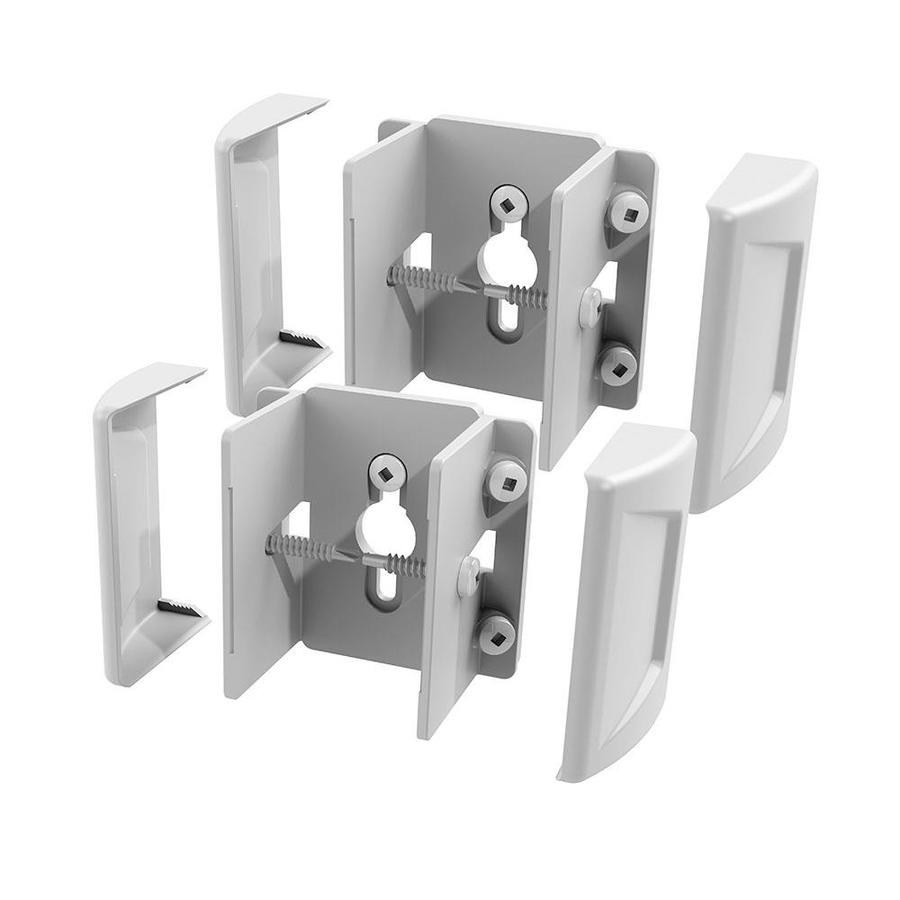 Freedom Set and Secure 2-Pack White Vinyl Fence Bracket