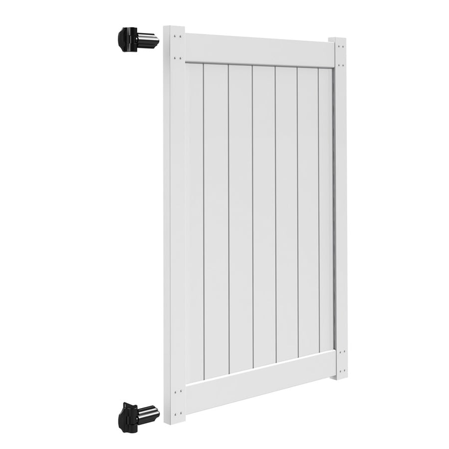 Freedom White Vinyl Privacy Vinyl Fence Gate Kit (Common: 6-ft x 4-ft; Actual: 5.83-ft x 3.83-ft)