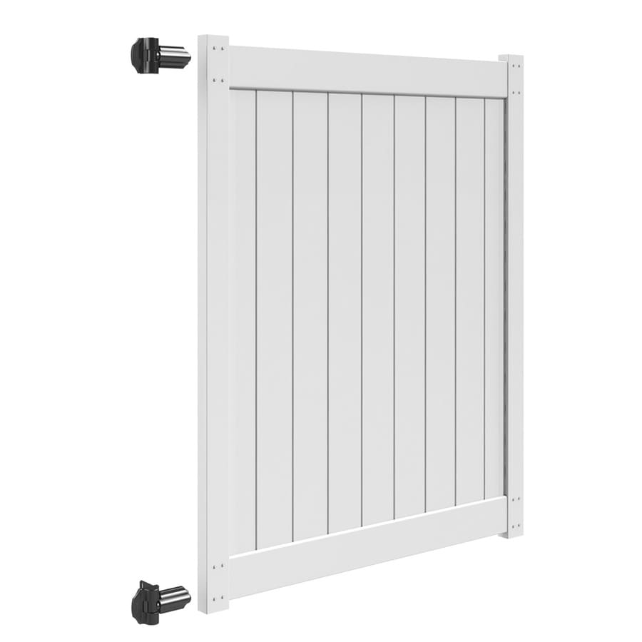 Freedom (Common: 6-ft x 5-ft; Actual: 5.83-ft x 4.83-ft) White Vinyl Privacy Gate Kit