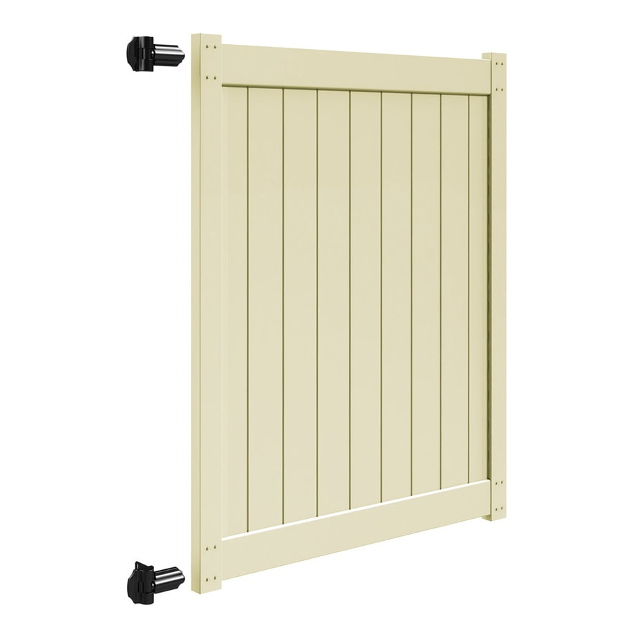 Freedom Sand Vinyl Privacy Vinyl Fence Gate Kit (Common: 6-ft x 5-ft; Actual: 5.83-ft x 4.83-ft)