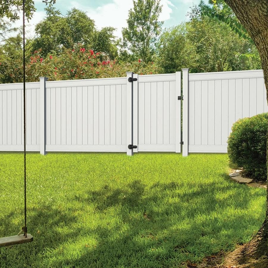 Freedom (Common: 6-ft x 8-ft; Actual: 6-ft x 7.82-ft) Ready To Assemble Emblem White Vinyl Privacy Fence Panel