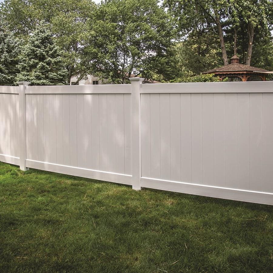 Freedom (Common: 4-ft x 8-ft; Actual: 3.83-ft x 7.56-ft) Ready To Assemble Bolton White Vinyl Privacy Fence Panel