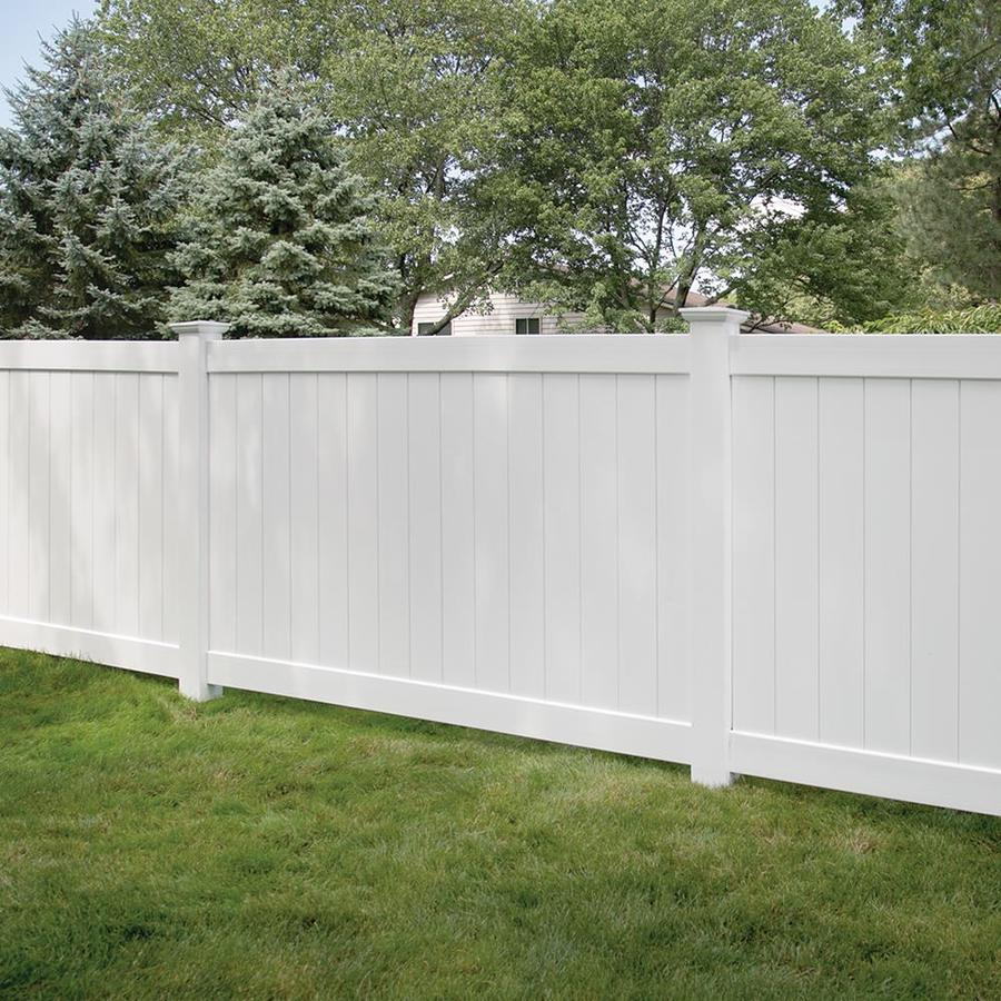 Freedom Ready-To-Assemble Bolton White Vinyl Privacy Fence Panel (Common: 5-ft x 8-ft; Actual: 4.83-ft x 7.56-ft)