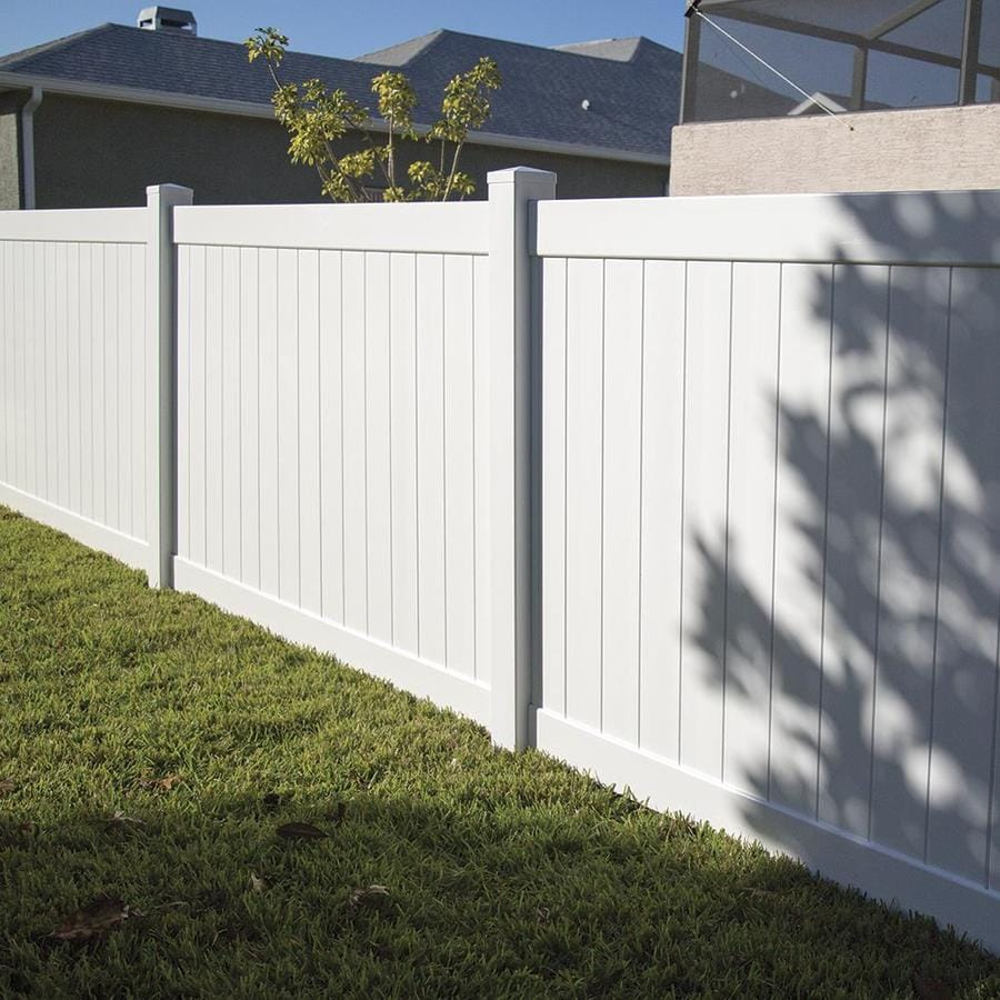 Freedom (Common: 6-ft x 8-ft; Actual: 5.83-ft x 7.56-ft) Ready To Assemble Bolton White Vinyl Privacy Fence Panel