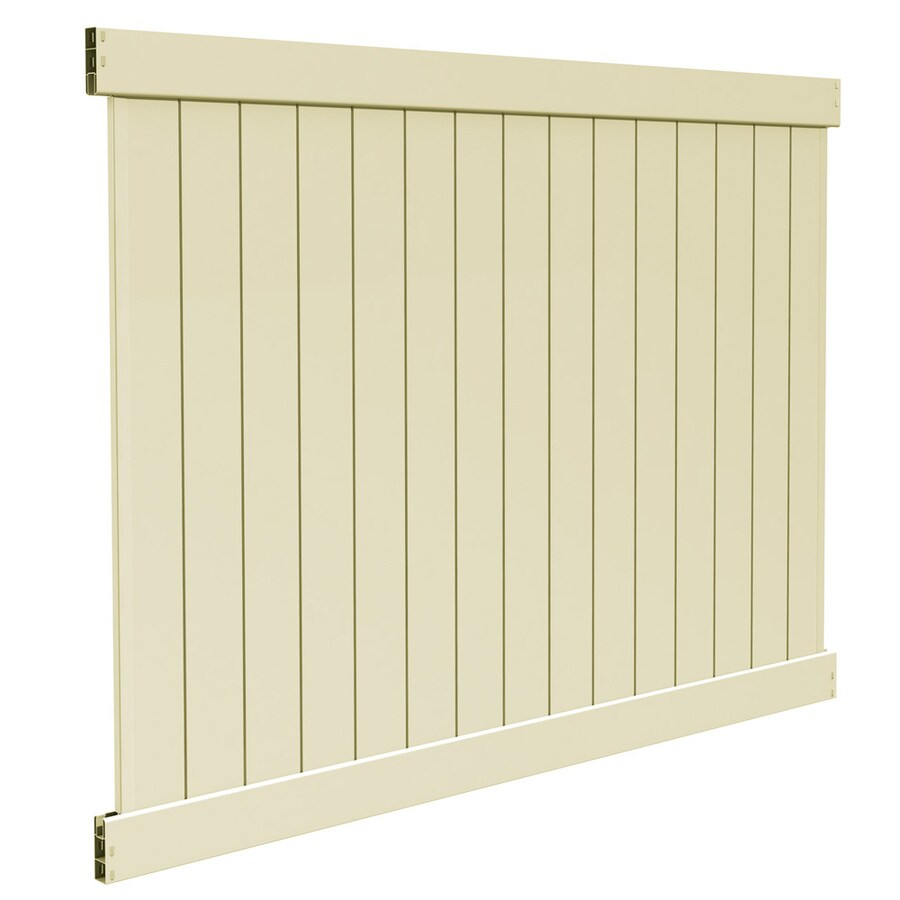 Freedom Ready-To-Assemble Bolton Sand Vinyl Privacy Fence Panel (Common: 6-ft x 8-ft; Actual: 5.83-ft x 7.56-ft)