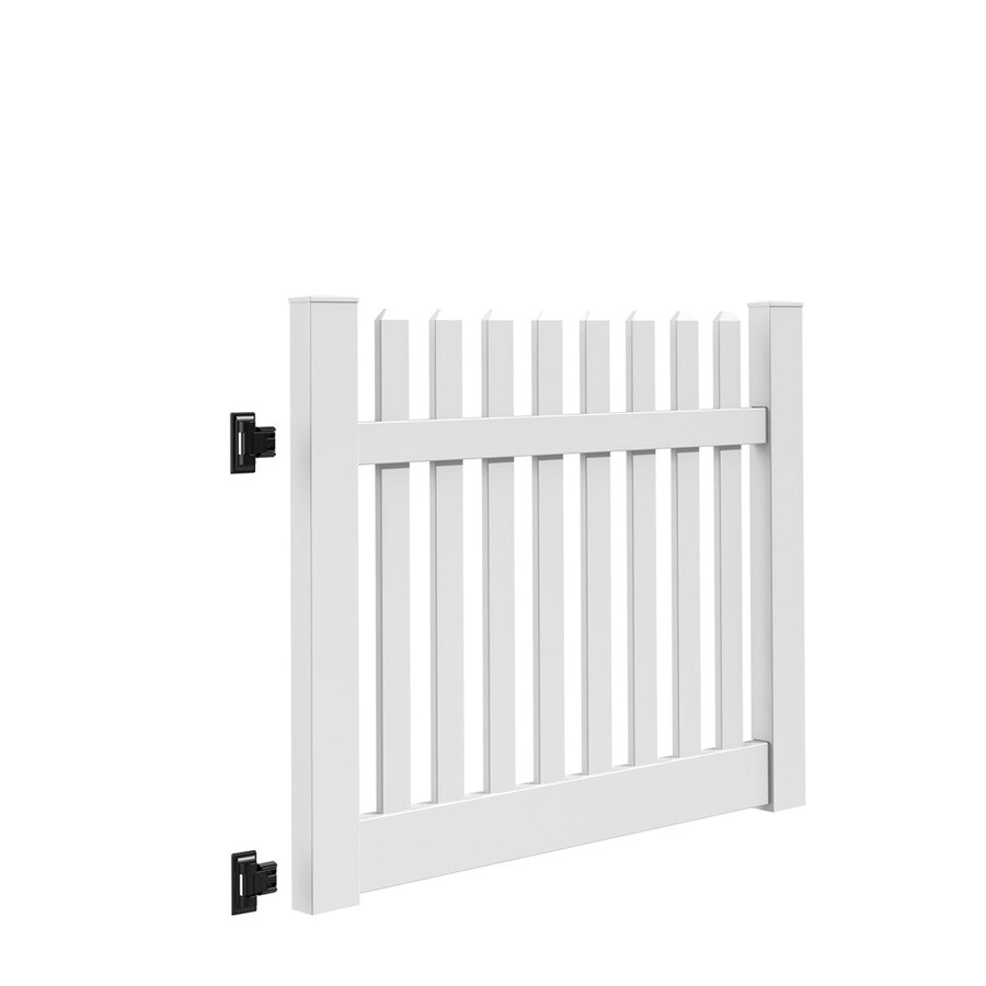 Freedom (Common: 4-ft x 5-ft; Actual: 4-ft x 4.83-ft) Lennox White Vinyl Gate Kit