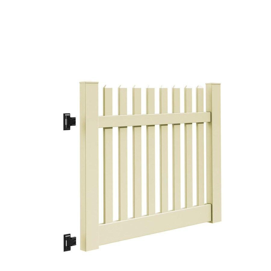 Freedom (Common: 4-ft x 5-ft; Actual: 4-ft x 4.83-ft) Lennox Sand Vinyl Gate Kit