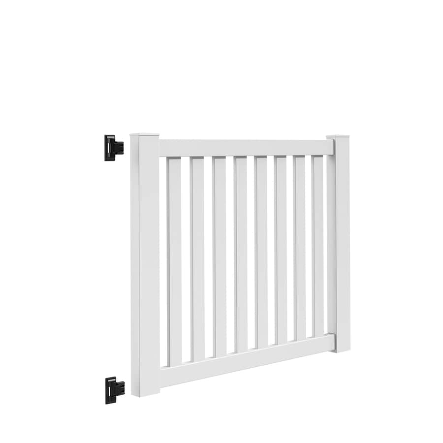 Freedom (Common: 4-ft x 5-ft; Actual: 4.04-ft x 4.83-ft) Terex White Vinyl Gate Kit