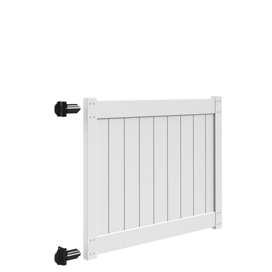 Freedom (Common: 4-ft x 5-ft; Actual: 4-ft x 4.83-ft) White Vinyl Privacy Gate Kit