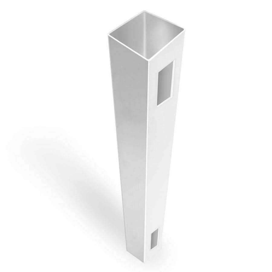 Freedom (Common: 5-in x 5-in x 8-ft; Actual: 5-in x 5-in x 8-ft) Ready-to-Assemble White Vinyl End Post