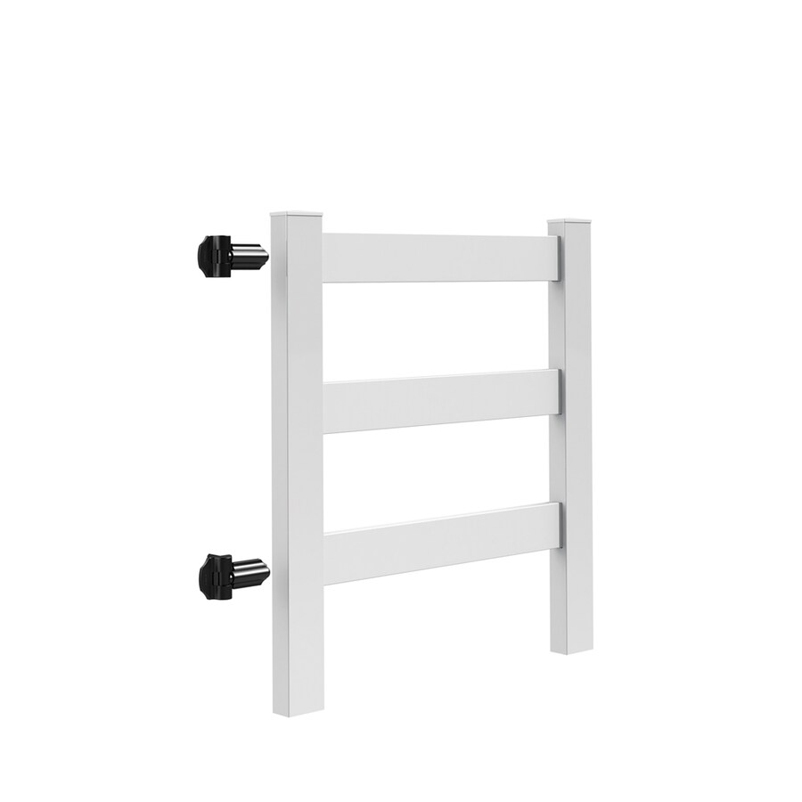 Freedom (Common: 5-ft x 5-ft; Actual: 4-ft x 3.83-ft) Post and Rail White Vinyl Gate Kit
