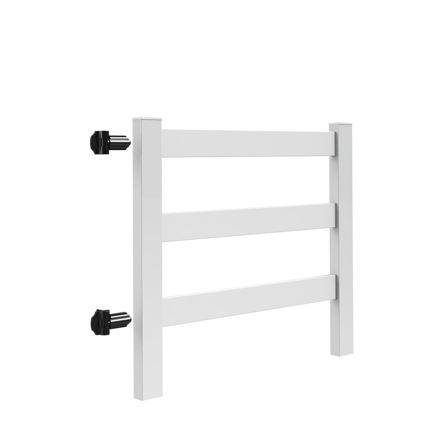 Freedom (Common: 4-ft x 5-ft; Actual: 4-ft x 4.83-ft) Post and Rail White Vinyl Gate Kit