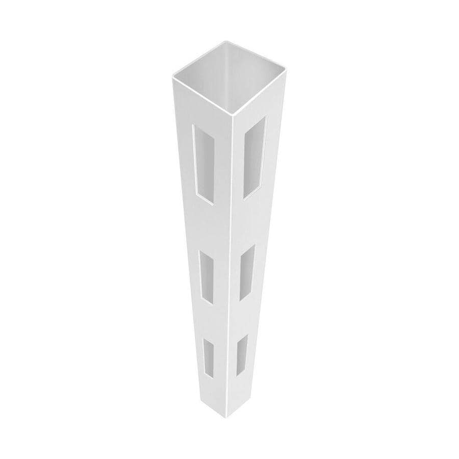Freedom Ready-to-Assemble White Vinyl Fence Corner Post (Common: 4-3/4-in x 4-3/4-in x 7-ft; Actual: 4.75-in x 4.75-in x 7-ft)