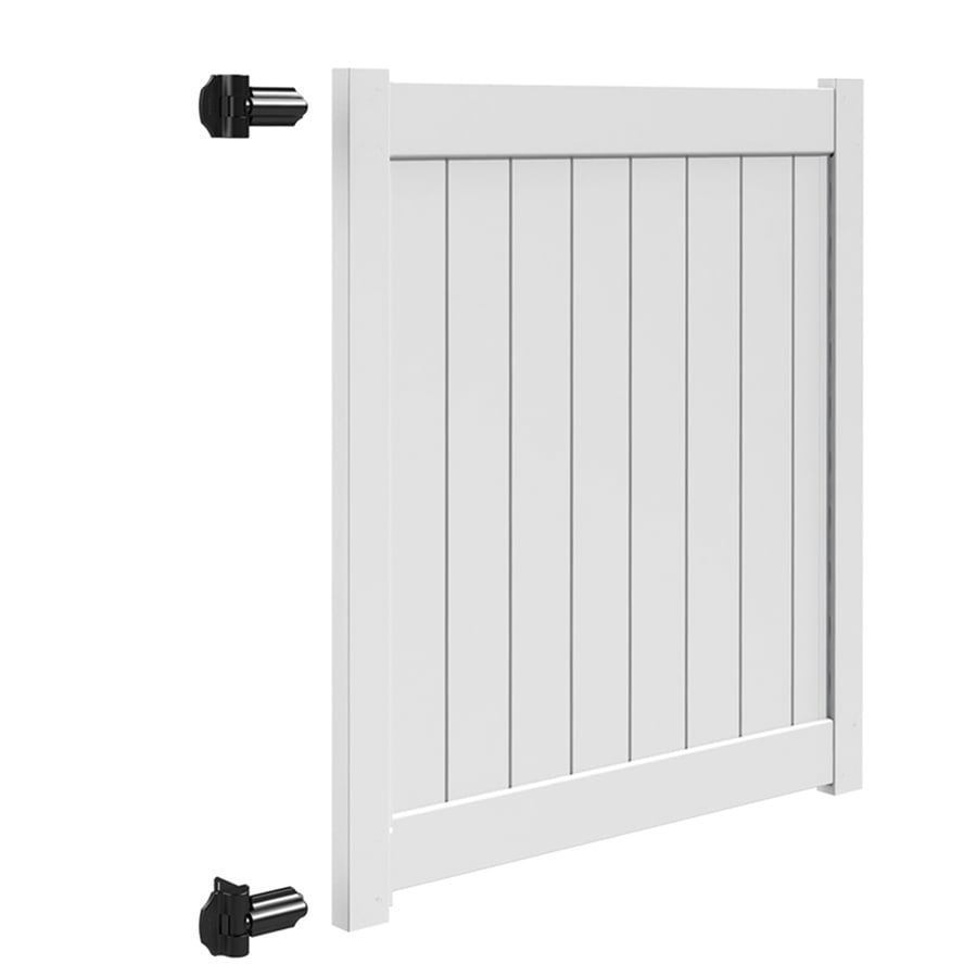 Freedom (Common: 5-ft x 5-ft; Actual: 4.95-ft x 4.83-ft) White Vinyl Privacy Gate