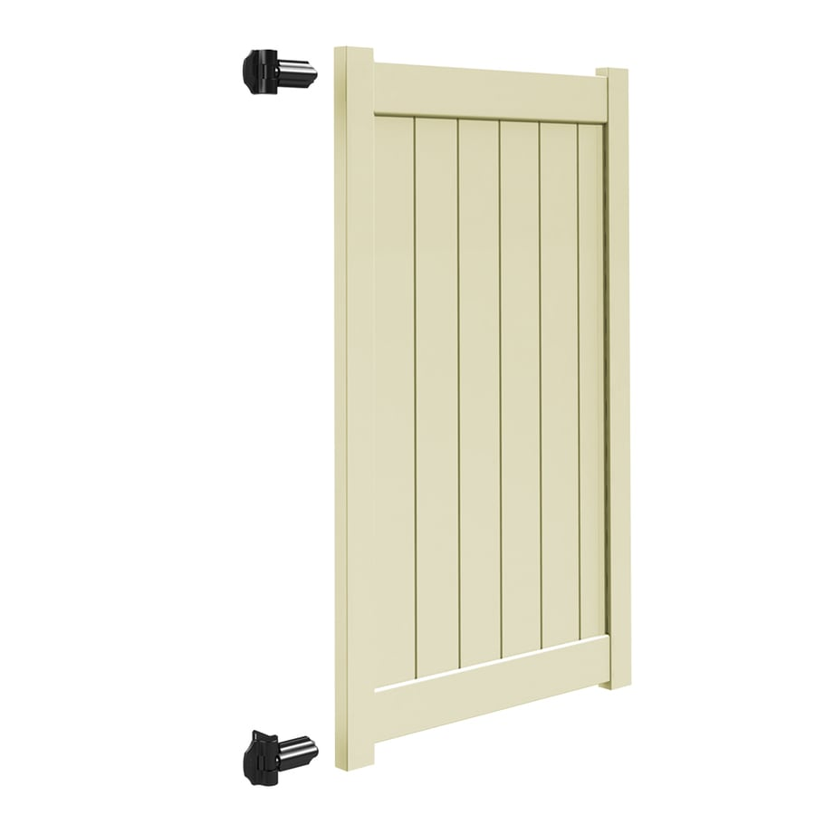 Freedom (Common: 6-ft x 4-ft; Actual: 5.95-ft x 3.83-ft) Sand Vinyl Privacy Fence Gate