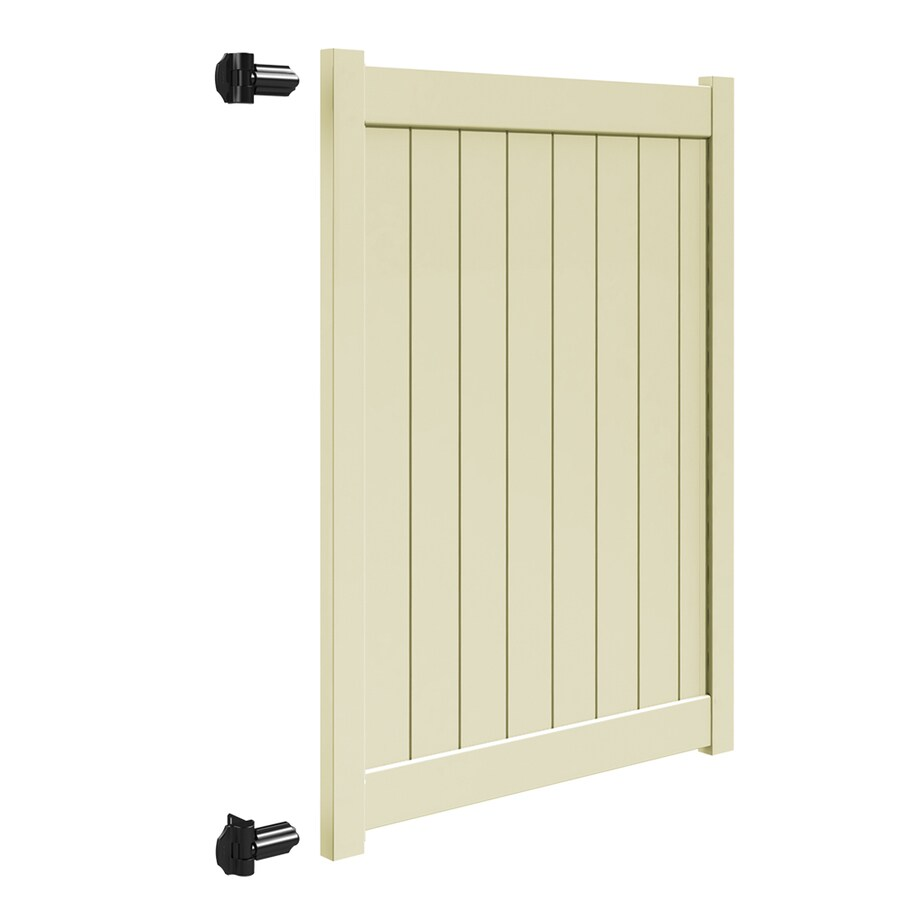 Freedom (Common: 6-ft x 5-ft; Actual: 5.95-ft x 4.83-ft) Sand Vinyl Privacy Fence Gate