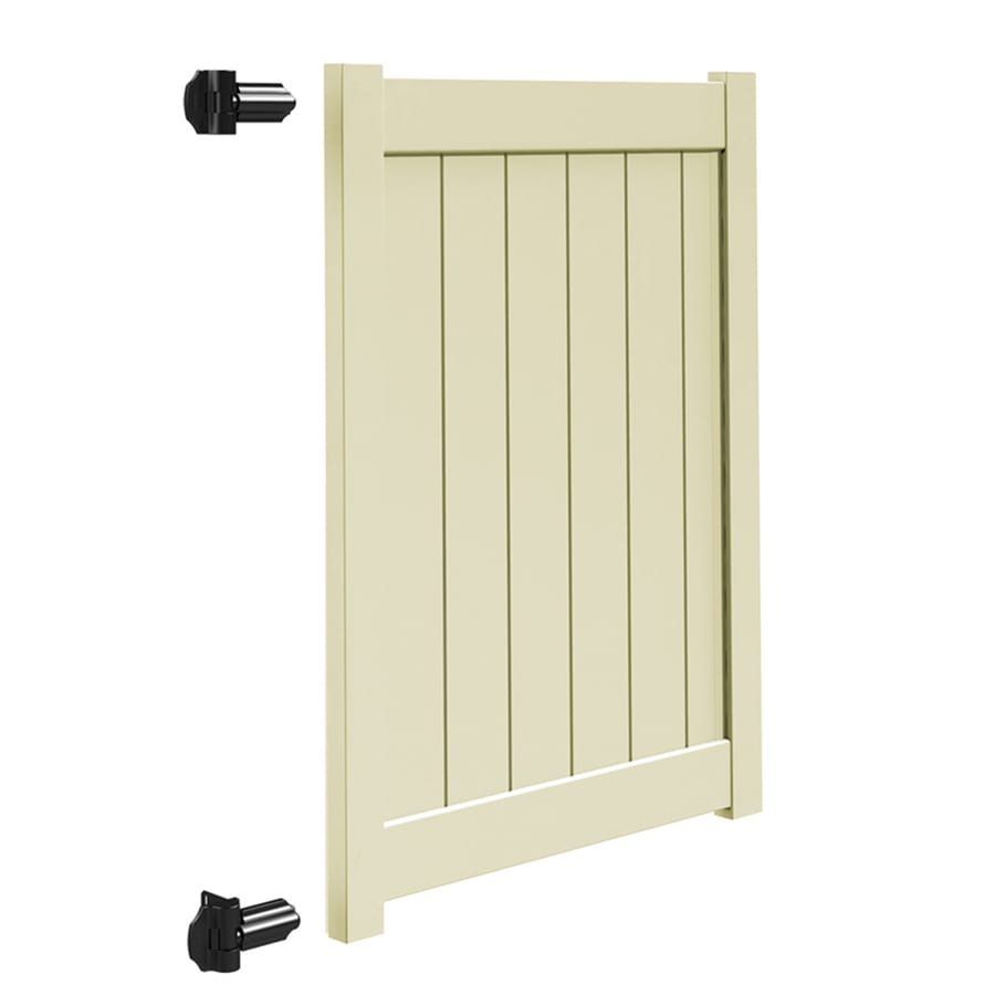 Freedom (Common: 5-ft x 4-ft; Actual: 4.95-ft x 3.83-ft) Sand Vinyl Privacy Gate