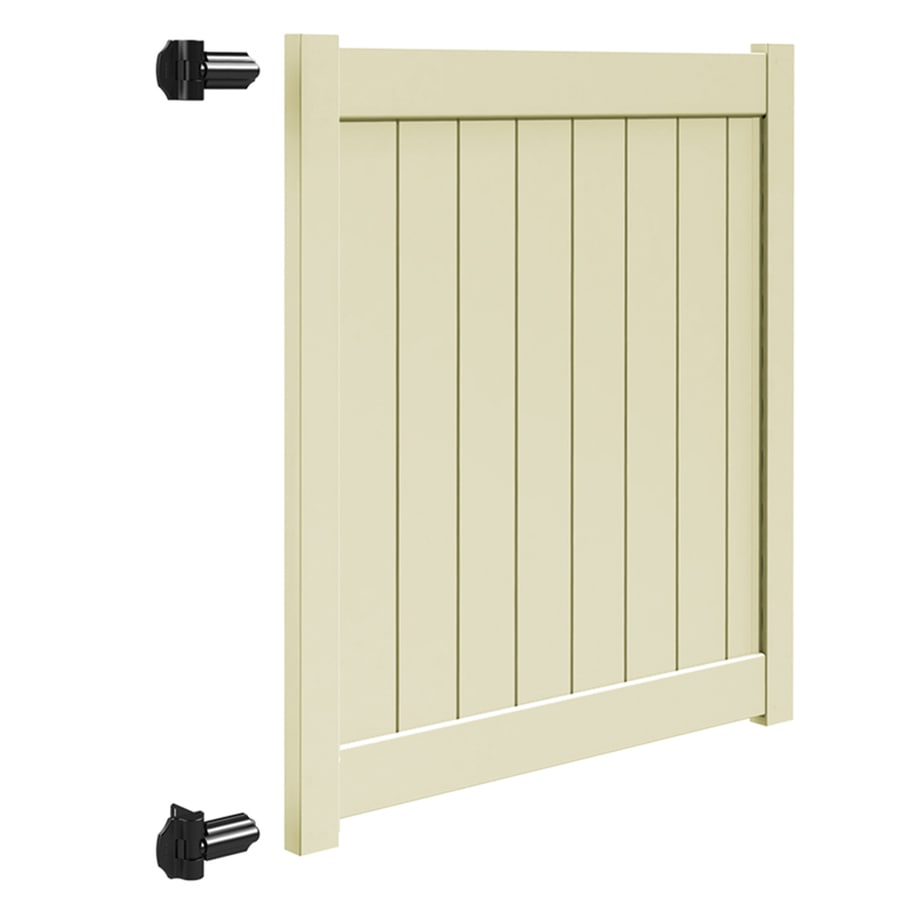 Freedom (Common: 5-ft x 5-ft; Actual: 4.95-ft x 4.83-ft) Sand Vinyl Privacy Fence Gate