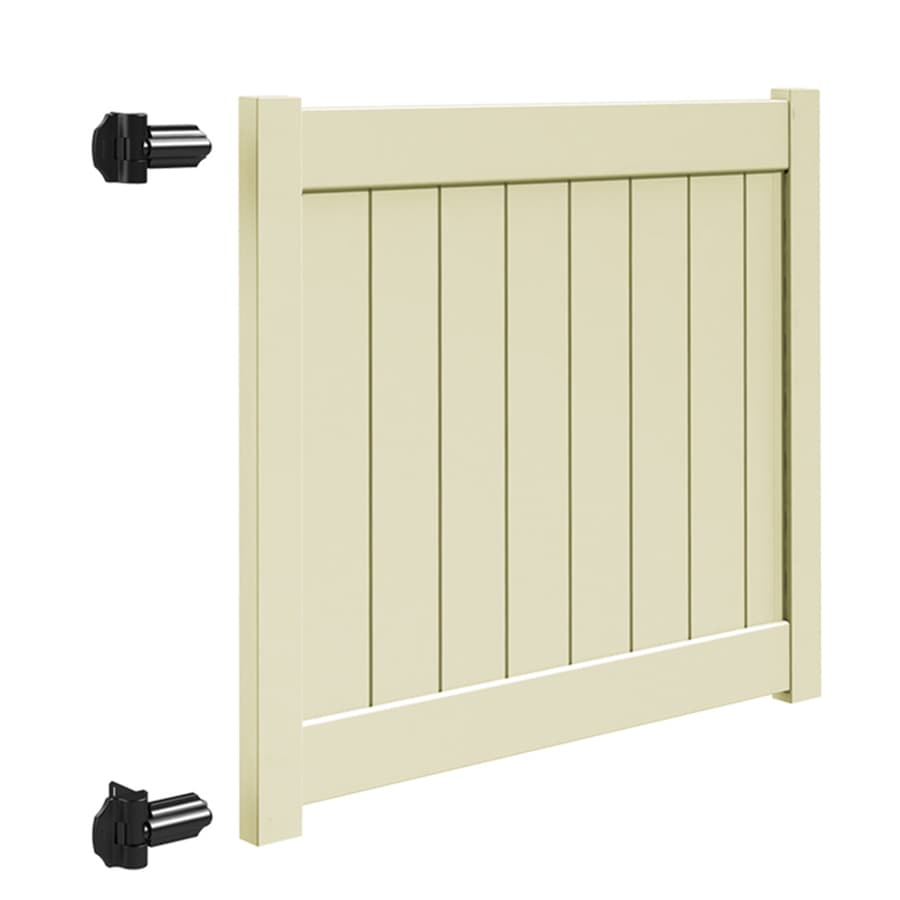 Freedom (Common: 4-ft x 5-ft; Actual: 3.95-ft x 4.83-ft) Sand Vinyl Privacy Fence Gate